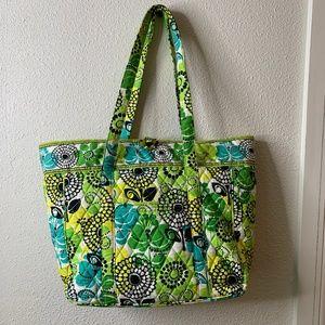 Vera Bradley Tote Limes Up Laptop Bag EUC